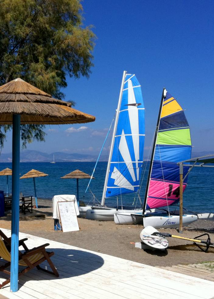 Hobiecat sailing Kos island, Greece