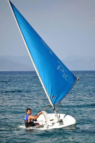 Dinghy sailing Kos island, Greece